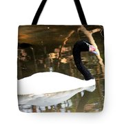 Black Neck Swan Tote Bag