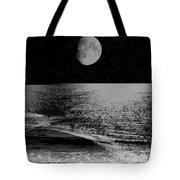 Black Night At The Shore Tote Bag