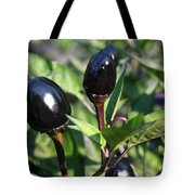 Black Olive Pepper Tote Bag