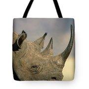 Black Rhinoceros Diceros Bicornis Close Tote Bag