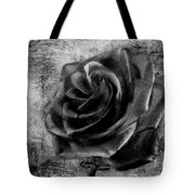 Black Rose Eternal  Bw Tote Bag