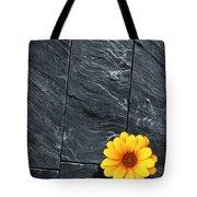 Black Schist Flower Tote Bag by Carlos Caetano