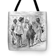 Black School Children Tote Bag