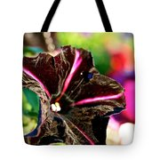 Black Spider Petunia Tote Bag