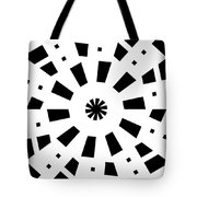 Black Spirale Tote Bag