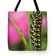 Black Swallowtail Caterpillar On Garden Tote Bag