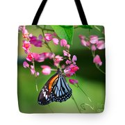 Black Veined Tiger Butterfly Tote Bag