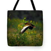 Blackbellied Whistling Duck In Flight Tote Bag
