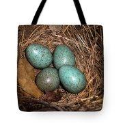Blackbird Mums Eggs Tote Bag
