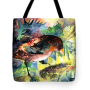Blackbird With Sunflower Tote Bag