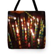 Blazing Amazing Birthday Candles Tote Bag