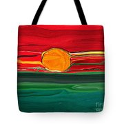 Blazing Red Sky Tote Bag