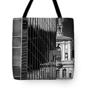 Blending Architecture Black And White Tote Bag