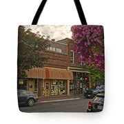 Blind Georges And Laughing Clam On G Street In Grants Pass Tote Bag by Mick Anderson
