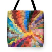 Blocks Of Color From A Pen And Ink Drawing Tote Bag