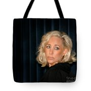 Blond Woman Sad Tote Bag