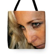 Blond Woman Strict Tote Bag