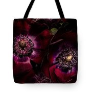 Blood Red Anemones Tote Bag
