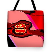 Bloody Red Sun Of Fantastic L.a. Tote Bag