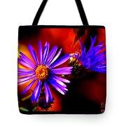 Blooming Asters Tote Bag