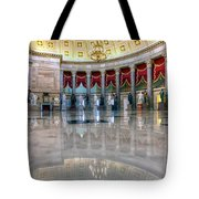 Blooming With Statues Tote Bag