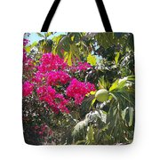Blossoms And Breadfruit Tote Bag