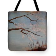 Blossoms Over The Lake Tote Bag