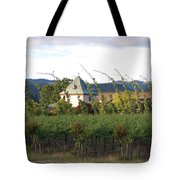 Blowing Grape Vines Tote Bag by Holly Blunkall