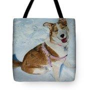 Blue - Siberian Husky Dog Painting Tote Bag