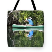 Blue Amongst The Greens - Canoeing On The St. Marks Tote Bag