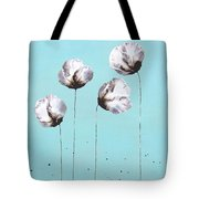 Blue And Brown Flower Painting Felicity Tote Bag