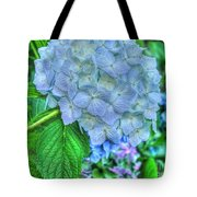 Blue And Green Flora Tote Bag