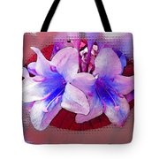 Blue And Red Weigela Window Tote Bag