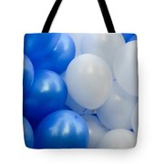 Blue And White Balloons  Tote Bag