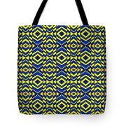 Blue And Yellow Chevron Pattern Tote Bag