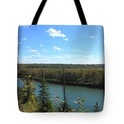 Blue Autumn Waters Tote Bag