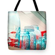 Blue Ball Canning Jars Tote Bag