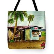 Blue Beach Shack Los Pinones Puerto Rico Tote Bag