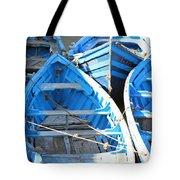 Blue Boats Tote Bag