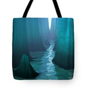 Blue Canyon River Tote Bag