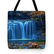 Blue Cascades Tote Bag