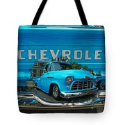 Blue Chevy Pickup Dbl. Exposure Tote Bag