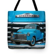 Blue Chevy Pu In The Grill Tote Bag