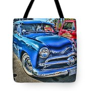 Blue Classic Hdr Tote Bag