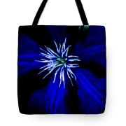 Blue  Clematis Tote Bag