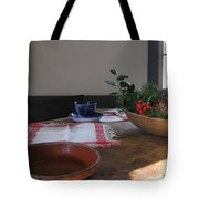 Blue Cup At Christmas  Tote Bag
