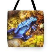 Blue Dart Frog Tote Bag by Susan Savad