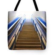 Blue Escalators Tote Bag