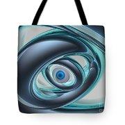 Blue Eyes Of A Machine Tote Bag