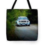Blue Fiat Abarth Tote Bag